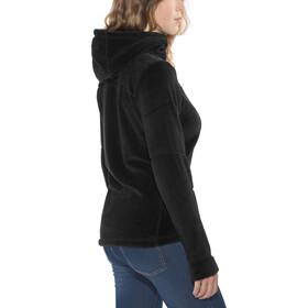 Meru Nunavut Hooded Teddy Fleece Jacket Women black